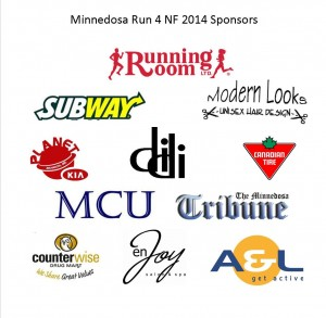Minnedosa Run sponsors, 2014