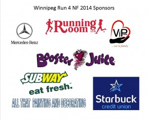 Winnipeg Run sponsors, 2014